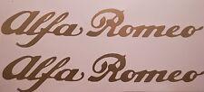 ADESIVI ALFA ROMEO specchietto GIULIA,GIULIETTA,MITO,147,BRERA,4C stickers ORO