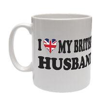 Amo il mio marito Britannica-Union Jack/Bandiera/Regalo/tazza in ceramica a tema Divertente