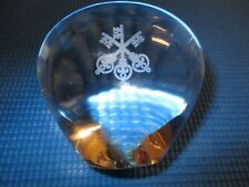Tiffany & Co. Signed Crystal Glass Apple Paper Weight