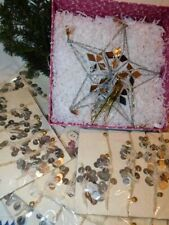 Free People Mirror Star Tree Topper w/ Coin Garland Lot