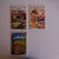 3 Folletos Receta Cuisine Cóctel Flora Caribe 2003 Exbrayat Francia N3381