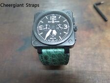 Bell & Ross BR-01 BR-03 crocodile watch strap Made In Taiwan Cheergiant straps