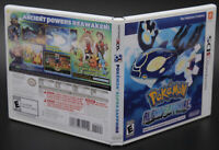 Pokémon Alpha Sapphire Nintendo 3DS Replacement Game Case & Insert NO GAME DISC