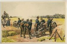 German 1870s Military Canon/Deutsches militare * artisti-AK U 1910 Carl Becker