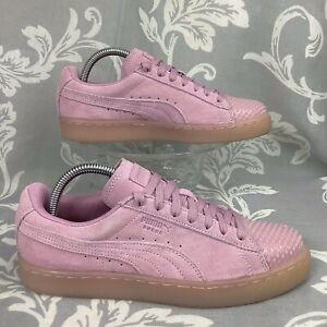 rare PUMA SUEDE JELLY Prism Pink Sneaker basket Shoe 365859 03 38 women 7.5