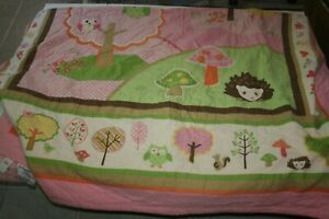 USED Circo Love 'n Nature Quilt Full/Queen EUC Owl Hedgehog