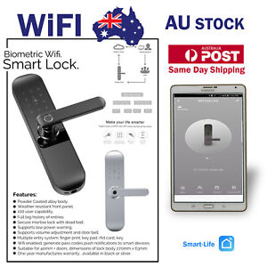 Smart WIFI Biometric Finger Print, Keypad, Rfid, Entry Lock 100 user Smart Lock