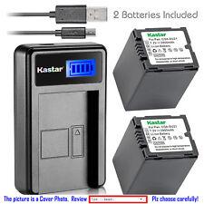 Kastar Battery LCD Charger for Panasonic CGR-DU21 CGA-DU21 & NV-GS230 NV-GS250