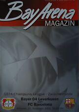 Programm UEFA CL 2002/03 Bayer Leverkusen - FC Barcelona