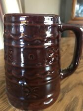 """Vintage USA Mug Brown with Daisy and Dot pattern 5"""" by Mar-Crest"""