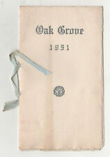 1951 OAK GROVE SCHOOL FOR GIRLS Vassalboro Maine GRADUATION PROGRAM Kennebec