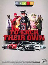 2012 Honda Civic Si Coupe Hybrid HF Original Advertisement Print Art Car Ad J923