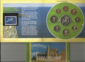 IRLANDA IRELAND 2003 8 mon.+med.+ francobollo SBAGLIATO e RITIRATO