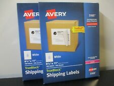 2 Packs Avery Shipping Labels 8 12 X 11 100 Labels 100 Sheets White New