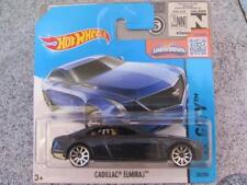 Hot Wheels 2015 #025/250 CADILLAC ELMIRAJ bleu HW City Nouveau Fonte 2015