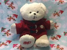 Christmas Wĥite Snowflake Teddy Bear w/ Red Hoodie-2007