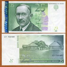 Estonia, 25 Krooni, 2007, P-84, UNC > Pre Euro