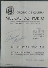 Program 1957 Autographed by the Sir Thomas Beecham