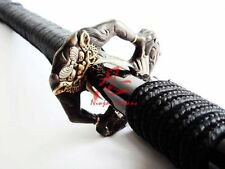 battle ready Clay tempered jp samurai katana sword Full tang demon tsuba sharp