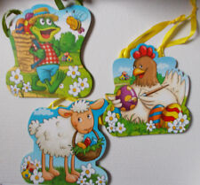 3 Geschenktüten ca 14 x 16 cm groß, Ostern Geschenktaschen Schaf, Huhn, Eier