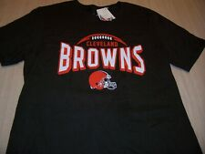 NWT NFL TEAM APPAREL CLEVELAND BROWNS BROWN T-SHIRT BOYS SMALL 8-10