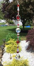 Handmade Healing Red Clear Crystal Suncatcher/Prisms W/Swarovski Elements USA