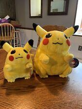 1999 Large & Medium Pokemon PIKACHU Plush Stuffed Toy Nintendo Play By Play NWT!