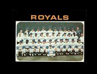 1971 Topps Baseball #742 Kansas City Royals team NM+