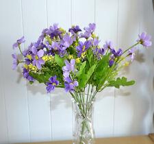 12x Flower Bouquet Artificial Plants Purple