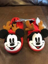 Authentic Disney StoreMickey Mouse Slippers Kids Size 9/10 New With Tags Holiday