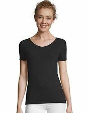 Hanes Women's V-Neck T-Shirt Tee FreshIQ X-Temp Tri-Blend Performance UPF 40+