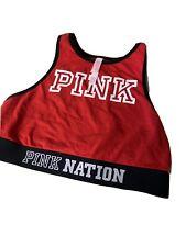 "N1 VICTORIA'S SECRET ""PINK NATION"" Fashion Show Racerback Sports Bra  Red S"