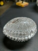 Crystal Glass Egg Shaped Candy Dish Container Vintage
