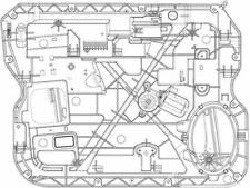 Fits 2009-2010 Dodge Ram 1500 Window Regulator Front Left TYC 98149VW