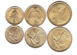 Chile - set 3 coins 2 5 10 Centesimos 1960 - 1971 aUNC Lemberg-Zp