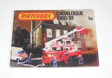 Matchbox Catalogo/Matchbox Catalogo 1980/81 - Inglese Edizione