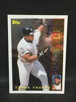 1996 Topps Profiles by Kirby Puckett Frank Thomas Card #AL-09 HOF MINT