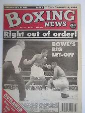 Boxing News 19 Aug 1994 Bowe Mathis Henry Wharton Gary Mason Karl Taylor