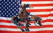 US End Of Trail Historical Flag Banner 3' x 5' Polyester Indian Horse