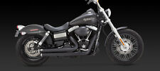 2012-2017 HARLEY DYNA/FAT/STREET BOB Black Big Shots Exhaust VANCE & HINES 47935