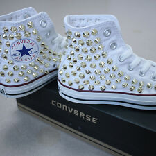 7234f06738aa7f Genuine Converse All-star Chuck Taylor as Core Hi Studed SNEAKERS Sheos  Whites 7
