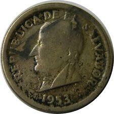 elf El Salvador 25 Centavos 1953 (S)   San Francisco Mint  Gilroy Roberts