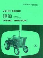 John Deere 1010 Diesel Operators Manual Single RC JD