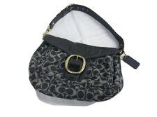COACH Shoulder Bag Bleecker Denim Flap Blue Patent Leather/Canvas Satchel #12571
