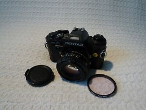 Pentax Super A 35mm Film SLR Camera & SMC Pentax-A 50mm 1:1.7 Lens