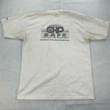 Vintage CHP T-Shirt Sz L Men's Short Sleeve California Highway Patrol Tee White