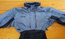 Columbia Full Body Snow Mobile Board Ski Insulated Womens Suit M Blue Navy NICE