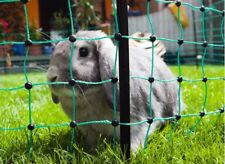 Kleintierzaun Geflügelnetz Hundezaun 105cm grün 25m Doppelspitze Nagerzaun Katze