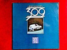 PEUGEOT 309 Sales Brochure Pack 1986