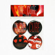 The Cure Pornography Badge Pack - 4 Pin Button Badges (Post Punk)